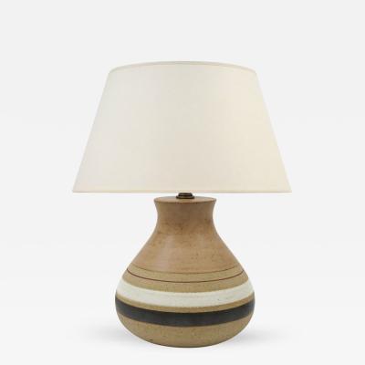Guido Gambone Mid Century Modern Ceramic Table Lamp by Guido Gambone Signed