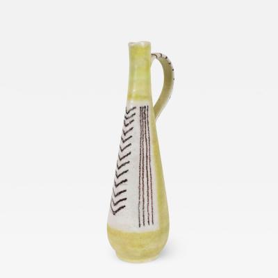 Guido Gambone Signed Guido Gambone Mid Century Modern Hand Crafted Ceramic Pitcher