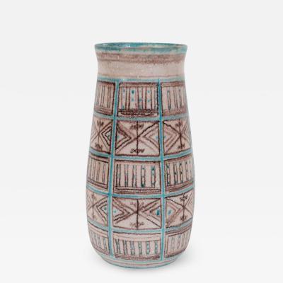 Guido Gambone Signed Guido Gambone Mid Century Modern Hand Painted Ceramic Vase