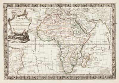 Guillaume Danet A scarce French map of Africa