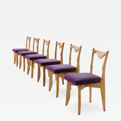 Guillerme et Chambron 6 Guillerme et Chambron Dinner Chairs France ca 1960s