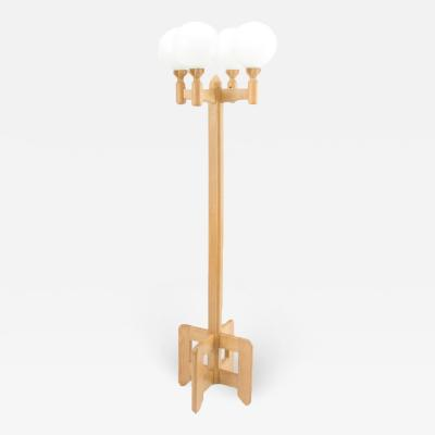 Guillerme et Chambron A French Guillerme et Chambron designed oak floor lamp circa 1960