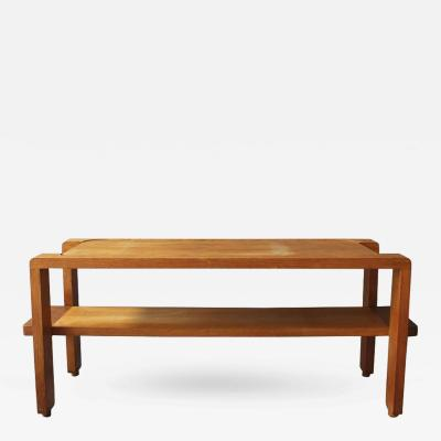 Guillerme et Chambron French 1950s Oak Cofee Table by Guillerme Chambron