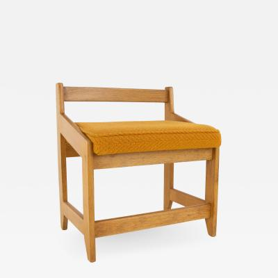 Guillerme et Chambron French Guillerme et Chambron Stool Hungarian Oak Wool
