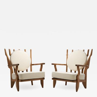 Guillerme et Chambron Grand Repos Armchairs by Guillerme et Chambron for Votre Maison France 1950s