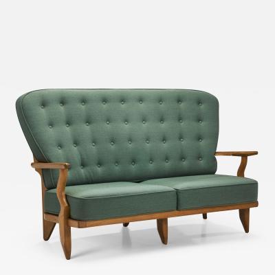 Guillerme et Chambron Grand Repos Sofa by Guillerme et Chambron for Votre Maison France 1950s