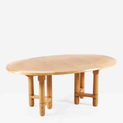 Guillerme et Chambron Guillerme and Chambron Large Elmyre Oak Dining Table for Votre Maison 1960