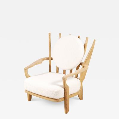 Guillerme et Chambron Guillerme and Chambron Oak Juliette Armchair for Votre Maison 1950s