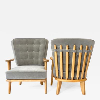 Guillerme et Chambron Guillerme et Chambron Lounge Chairs for Votre Maison