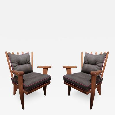Guillerme et Chambron Guillerme et Chambron Pair of Lounge Chairs Edition Votre Maison France 1960