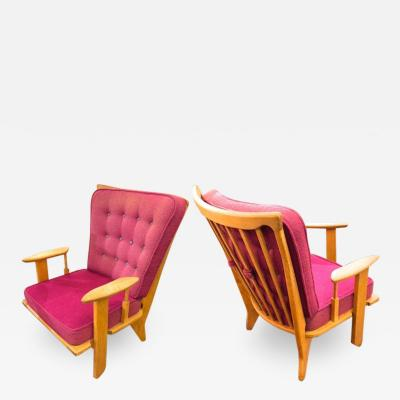 Guillerme et Chambron Guillerme et Chambron pair of rare chairs in good vintage condition