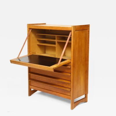 Guillerme et Chambron High chest dos dane secretary by Guillerme Chambron France 1960s