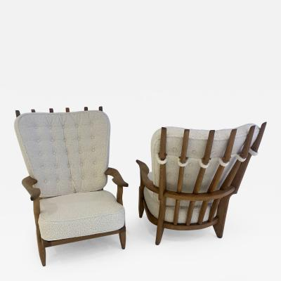 Guillerme et Chambron Pair of Grand Repos Arm Chairs By Guillerme et Chambron