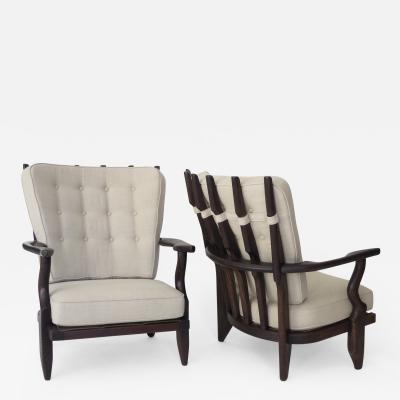 Guillerme et Chambron Pair of Guillereme et Chambron for Votre Maison Petit Repos French Lounge Chairs