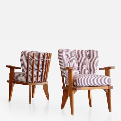 Guillerme et Chambron Pair of Guillerme et Chambron Lounge Chairs