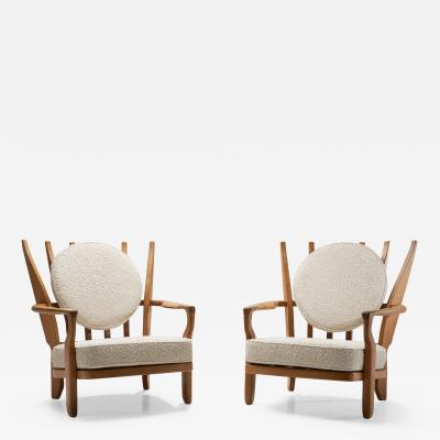 Guillerme et Chambron Pair of Juliette Armchairs by Guillerme and Chambron France 1950s