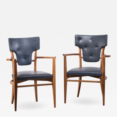 Gunnar Asplund Pair of very rare Gunnar Asplund armchairs