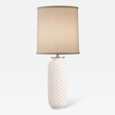 Gunnar Nylund A Swedish White Glazed Ceramic Vase Now a Lamp