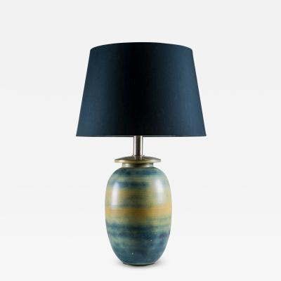 Gunnar Nylund Extra Large Ceramic Swedish Midcentury Table Lamp by Gunnar Nylund