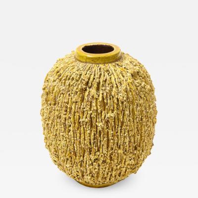 Gunnar Nylund Gunnar Nylund Yellow Chamotte Vase