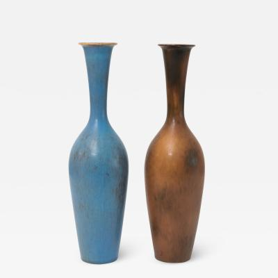 Gunnar Nylund Gunnar Nylund for Rorstrand Sweden Scandinavian Modern vase in blue and brown