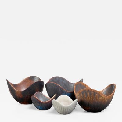 Gunnar Nylund Gunnar Nylund set of five ceramic bowls Sweden