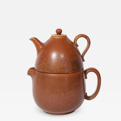 Gunnar Nylund Mid Century Modern Double Ceramic Teapot by Gunnar Nylund for R rstrand