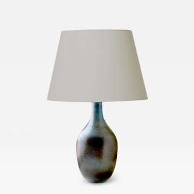 Gunnar Nylund Mid Century Modern Silhouetted Lamp in Blues and Grays by Gunnar Nylund