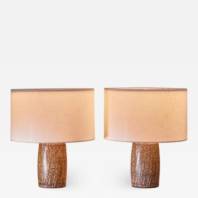 Gunnar Nylund Pair of Gunnar Nylund ceramic table lamps Sweden
