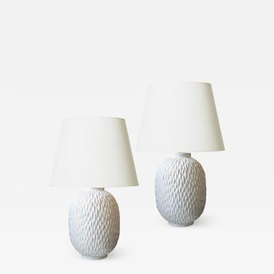 Gunnar Nylund Pair of Organic Modern Lamps by Gunnar Nylund for Rorstrand