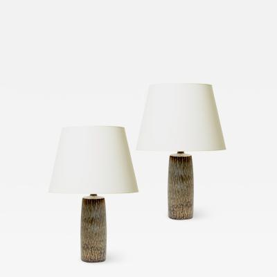 Gunnar Nylund Pair of Rubus Rustically Textured Table Lamps by Gunnar Nylund