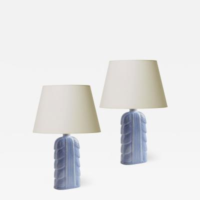 Gunnar Nylund Pair of Table Lamps with Abstracted Foliate Forms by Gunnar Nylund
