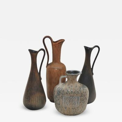 Gunnar Nylund Set of Four Vases by Gunnar Nylund