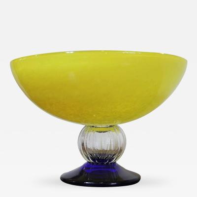 Gunnel Sahlin Yellow Bowl by Gunnel Sahlin for Kosta Boda