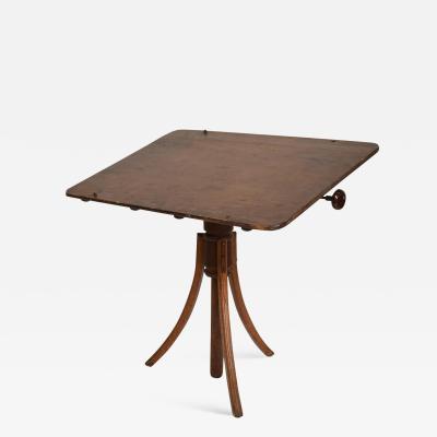 Gustav Stickley Antique Decorative Oak Drafting Table Adjustable Artist