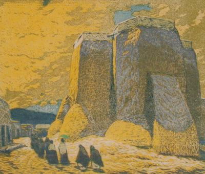 Gustave Baumann Church Ranchos de Taos
