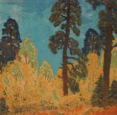 Gustave Baumann Pine and Aspen