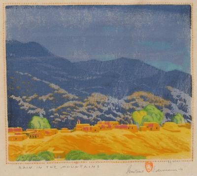 Gustave Baumann Rain in the Mountains