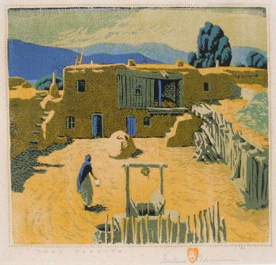 Gustave Baumann Taos Placita