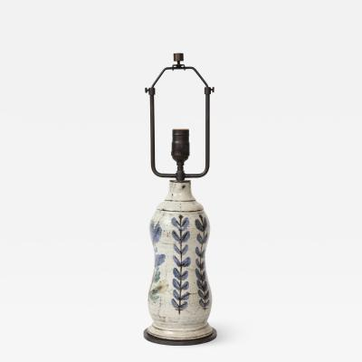 Gustave Raynaud Ceramic Table Lamp by Gustave Reynaud for Le Murier Vallauris France c 1960