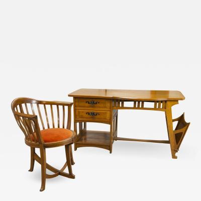Gustave Serrurier Bovy Gustave Serrurier Bovy Desk and chair