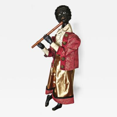 Gustave Vichy Ethiopian Flutist French Musical Automaton by Gustave Vichy Circa 1870s