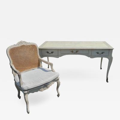 Gustavian Style Swedish Empire Writing Table Desk Chair