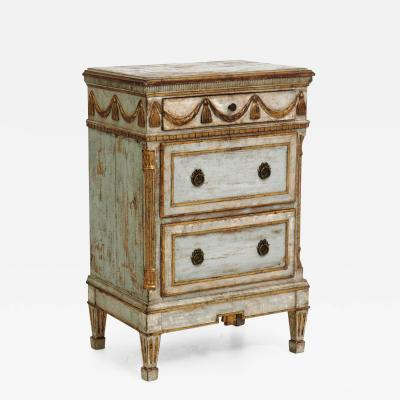Gustavian chest scraped down to original paint and guilt circa 1790
