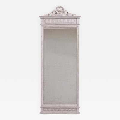 Gustavian style mirror richly carved circa 100 years old