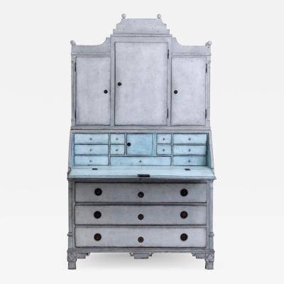 Gustavian two parts bureau with three top drawers circa 1790 1810