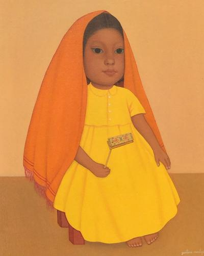 Gustavo Montoya Young Girl with Toy