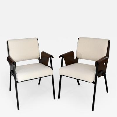 Gustavo Pulitzer Finali Set of 4 Albenga armchairs
