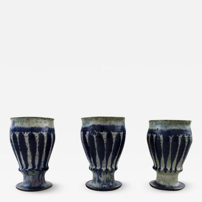 Gutte Eriksen Gutte Eriksen own workshop three ceramic cups