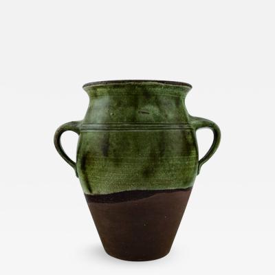 Gutte Eriksen Large unique stoneware vase Modeled with handles